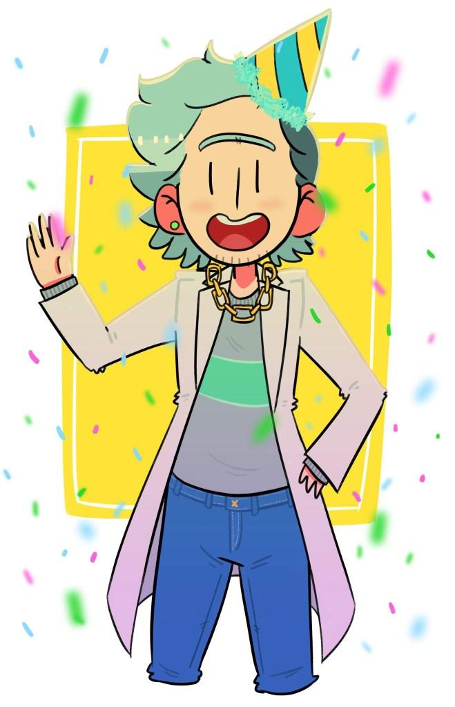 happy birthday to a certain curator rick and morty amino