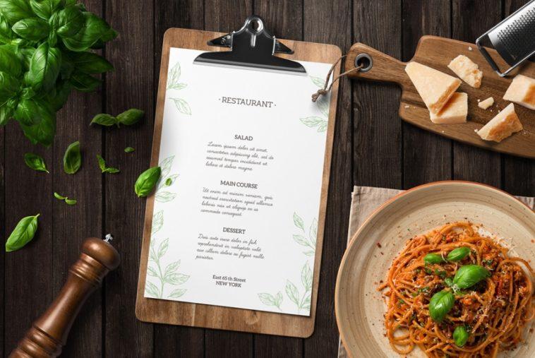 kitchen restaurant branding mockup free download