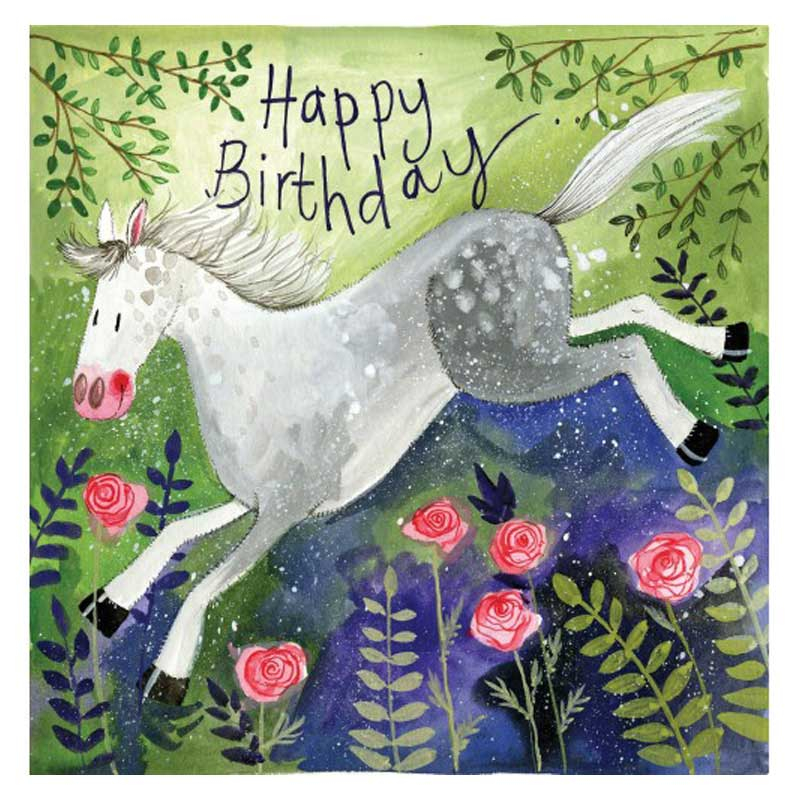 rosie horse happy birthday card alex clark art the