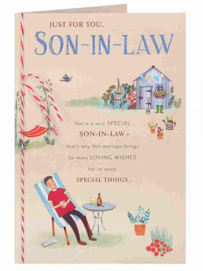 son in law birthday card card design