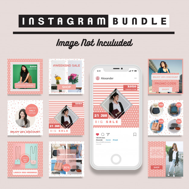 creative discount social media post template premium vector