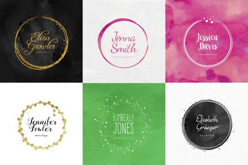 feminine logo creator circle edition mega bundle psdblast