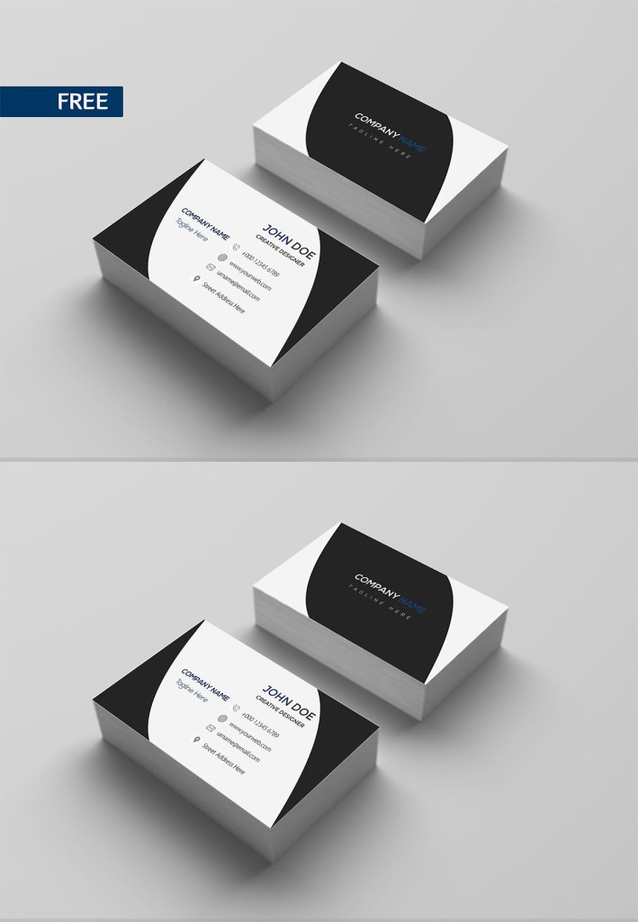 free print design business card template creativetacos