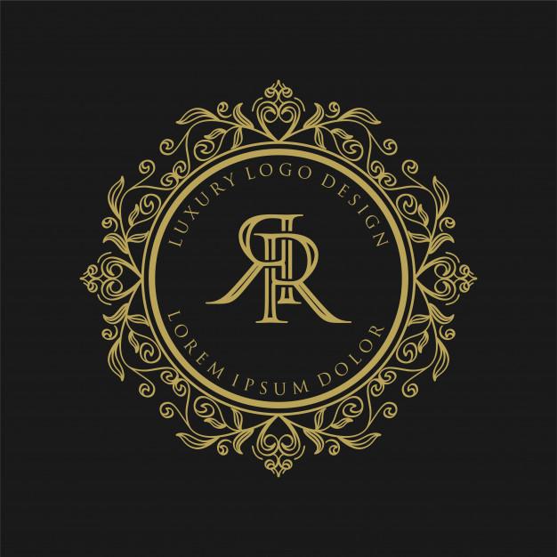 premium vector luxury monogram gold logo design