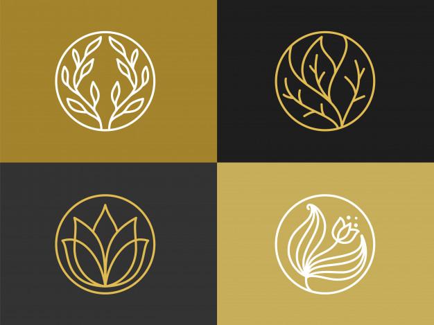 premium vector luxury monogram logo design template set