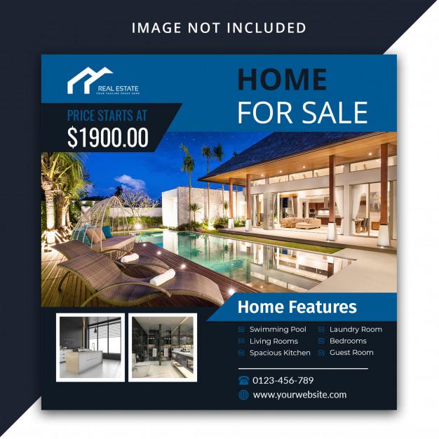 real estate social media post template premium psd file