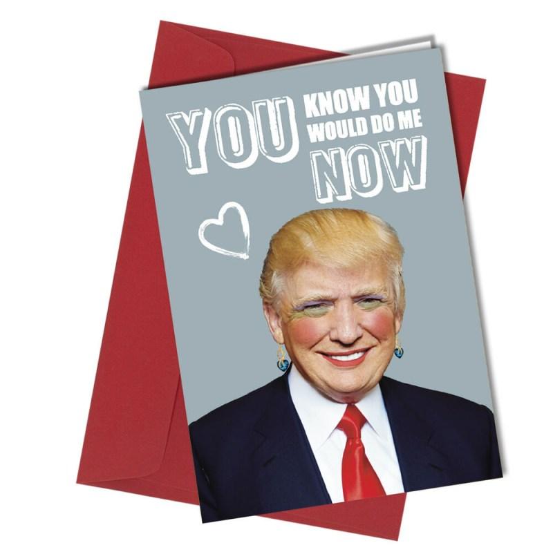 53 valentine or birthday donald trump card adult humour