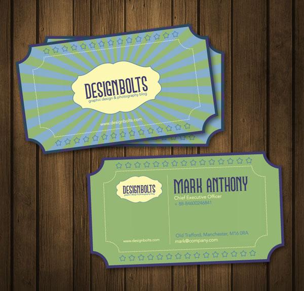 beautiful free retro business card design template in