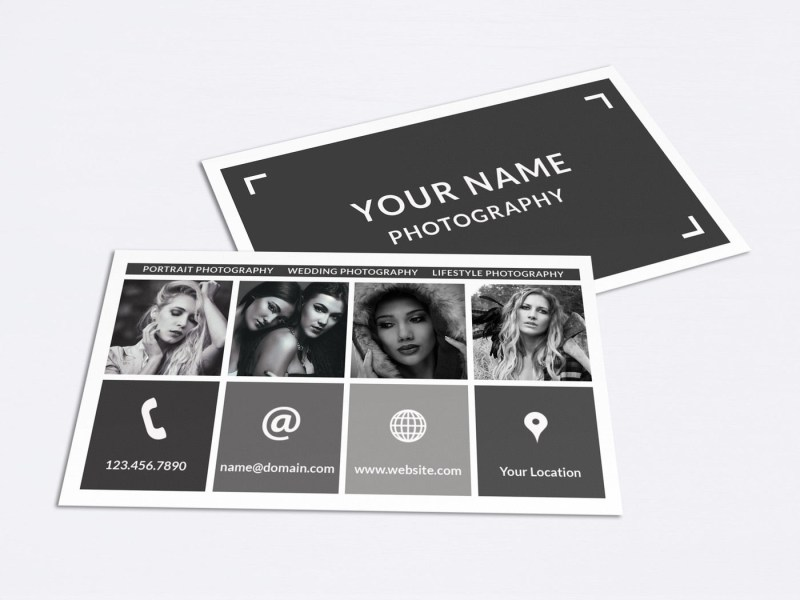 business card template 015 photoshop nm design studio