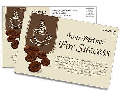 coffee postcard template design id 0000000750
