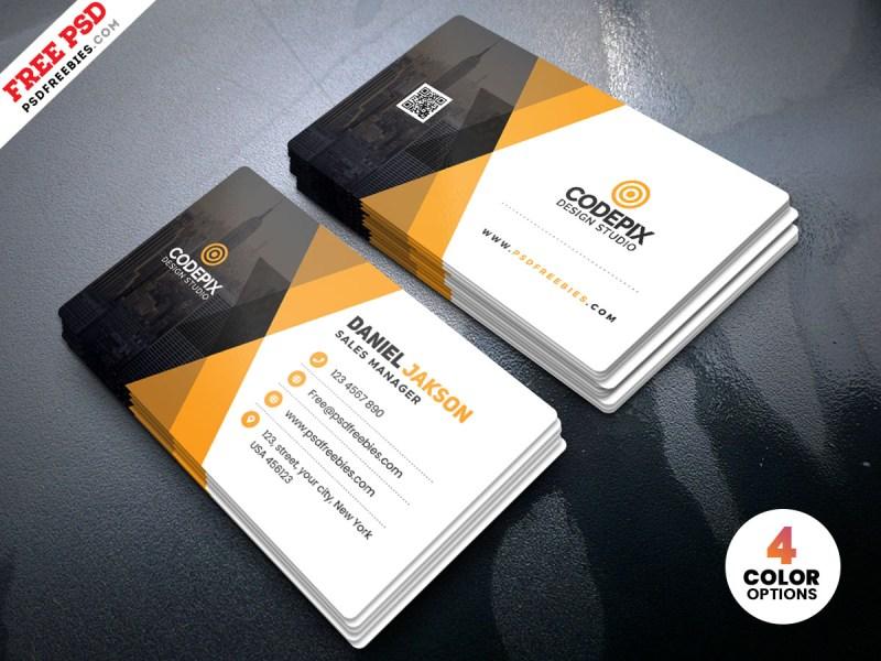 corporate business card template psd psdfreebies