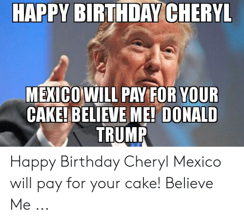 donald trump happy birthday memes