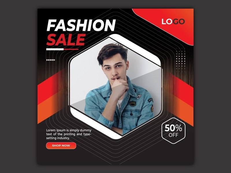 fashion sale banner template instagram post design 2021