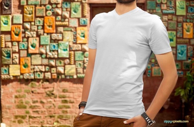 free t shirt design mockup zippypixels