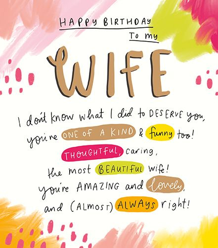 happy birthday to my wife youre one of a kind wife