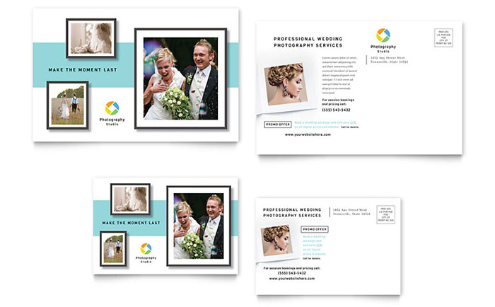 photographer postcard template design