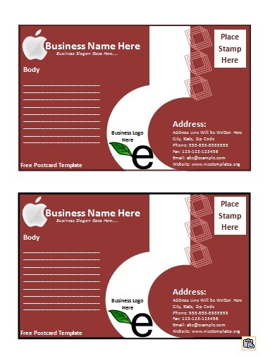 postcard template free word templates