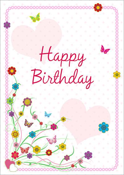 valentine card design happy birthday free printable