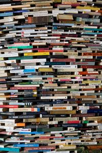 A_tower_of_used_books_-_8449