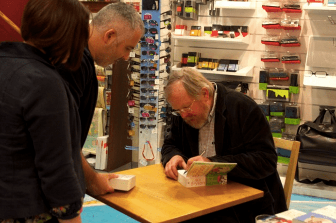 Me and Bill: Meeting a travel writing hero.