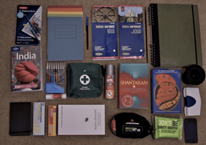 Rare Travels, rickshaw-style: What's in the bag.
