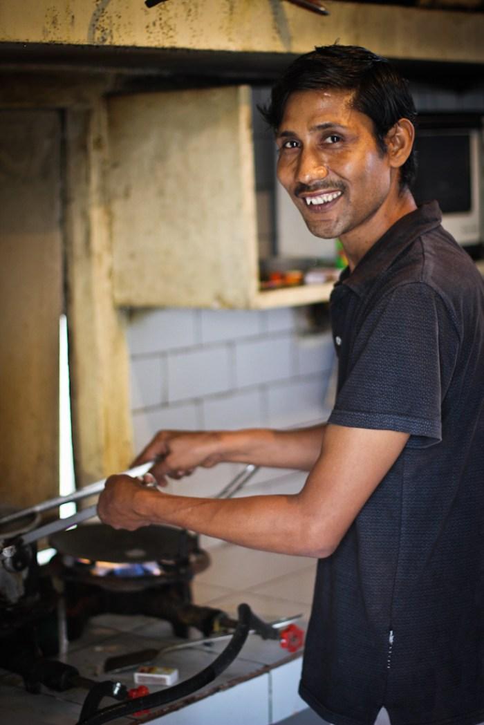Indian cook in Delhi