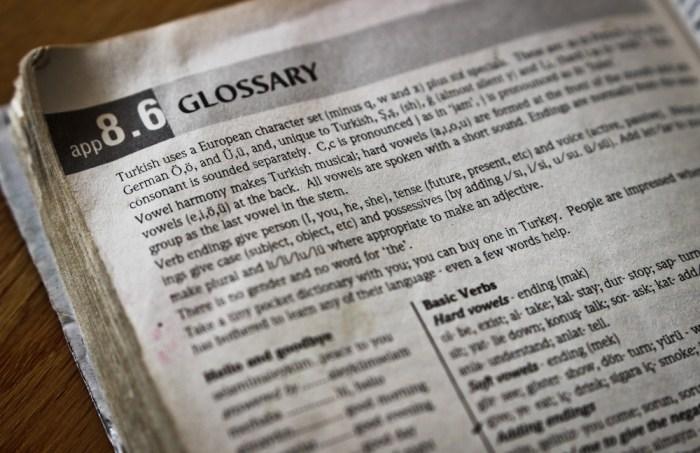 Evliya Celebi Way glossary