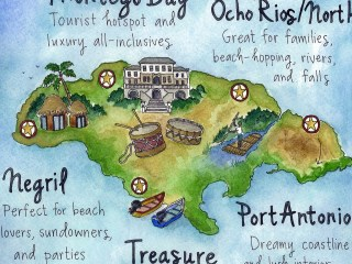 Illustrated maps for guidebook