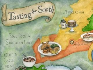 Atlanta Food Walks illustrated map