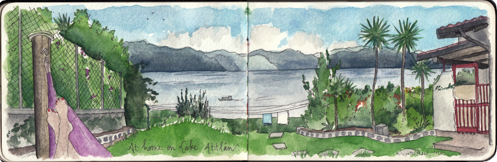Guatemala travel sketch