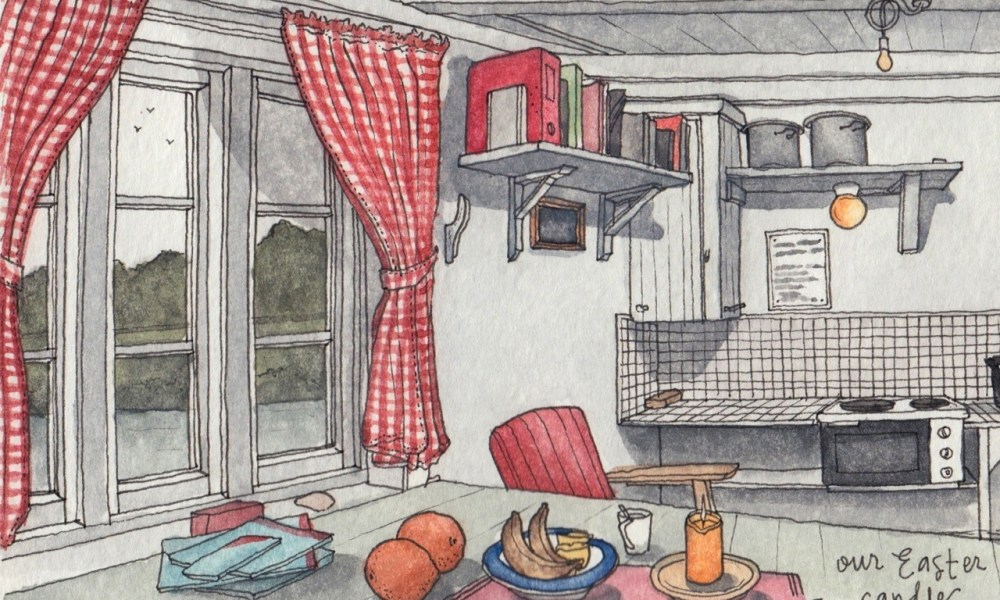 Sketching Lofoten: At home in the far north.