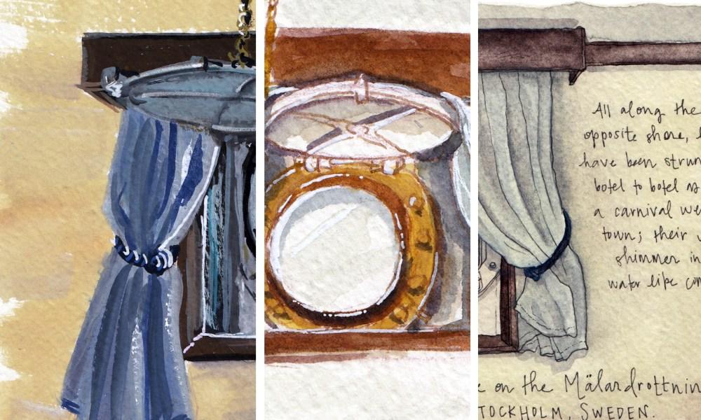 A tale of three sketchbooks in Sweden.