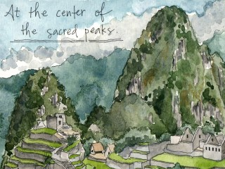 Machu Picchu sketches for National Geographic