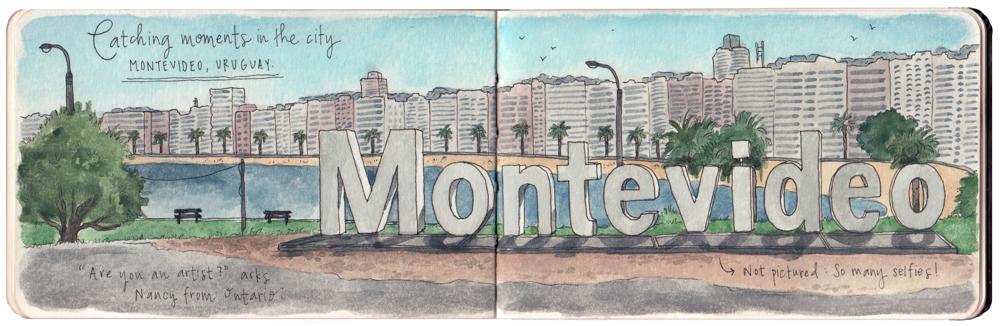 Travel sketch Uruguay