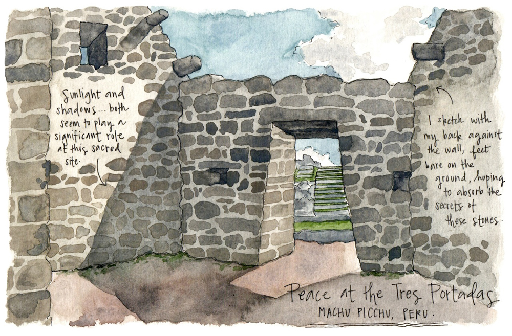 Travel sketch Peru