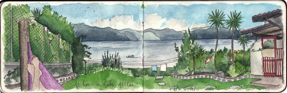 Travel sketch Guatemala