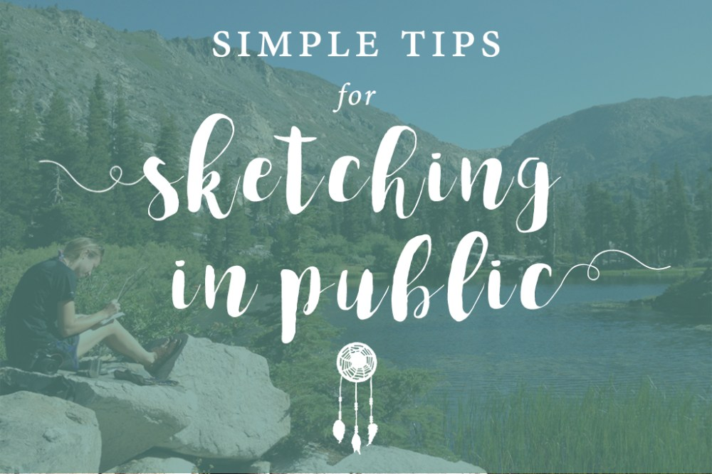 Tips for sketching in public