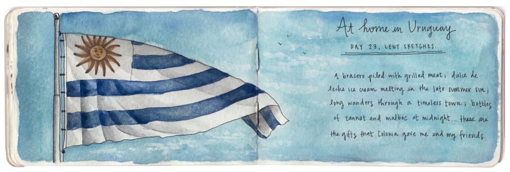 Uruguay sketch