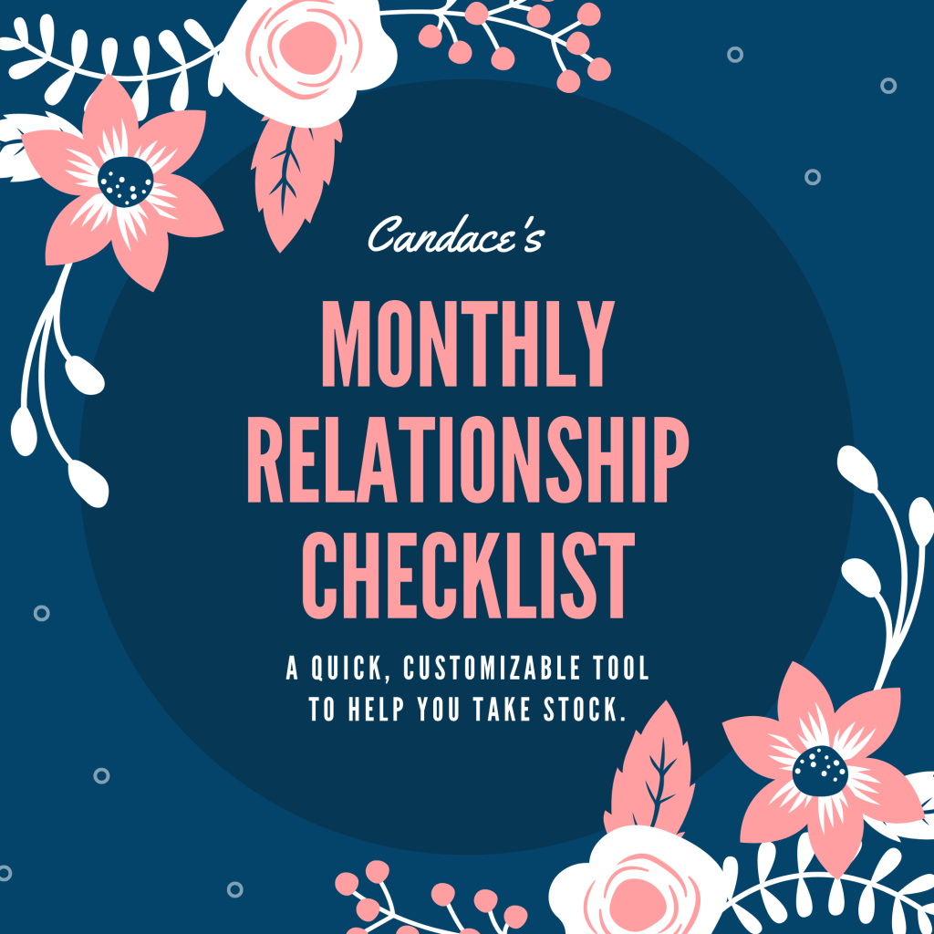 Candace's Monthly Relationship Checklist