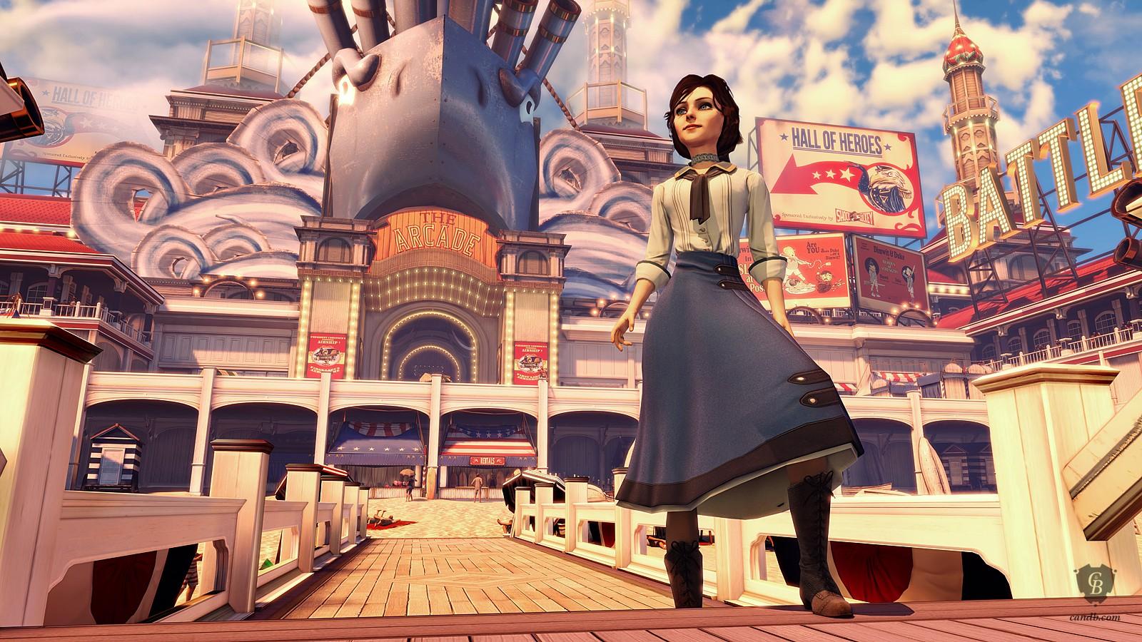 Bioshock Infinite Falling Wallpaper Elizabeth Bioshock Infinite Irrational Games