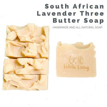 shea butter, mango butter, cocoa butter, mafura butter, south african lavender essential oil, all natural soap