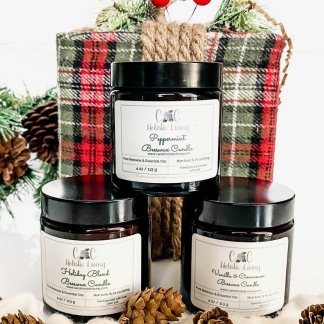 Holiday gift, candle gift set, beeswax candle