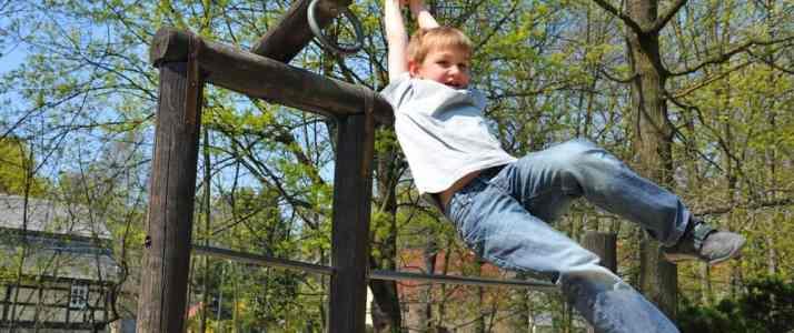 Child on Monkeybars