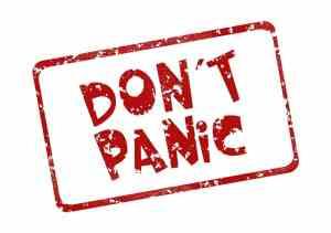 Don't Panic Stamp