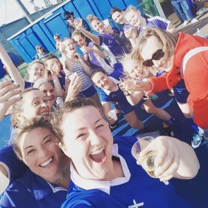 CandF Ladies 1 celebrate promotion