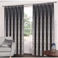Curtains In Gray Living Room Furniture Ideas Images Crushed Velveteen Ready Made Grey C H Closs Hamblin Luxe Steel