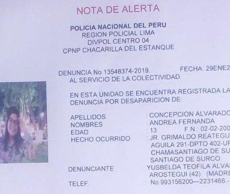 ¡URGENTE!: Juez Carhuancho denuncia la desaparición de su hija