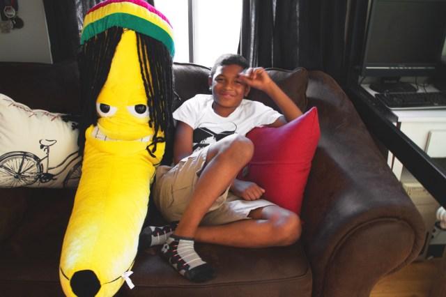 Interior photography Stuffed banana