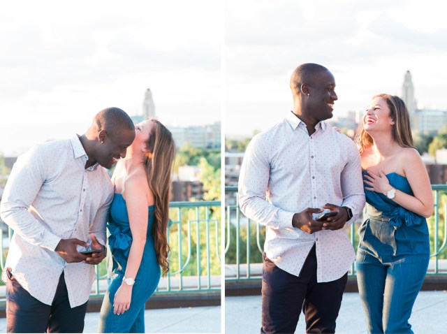 Engagement session at Montreal's St. Joseph Oratory. Photographed by Montreal wedding photographer Cass Poblah.