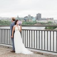Elena and Jason's Elegant Rainy Day Wedding at the Canadian Museum of History